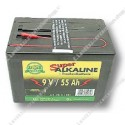 droge batterij - Alkaline 9V/55Ah