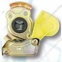 luchtdrukkoppeling 2 geel M16x1,5