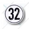 snelheidsbord 32, folie
